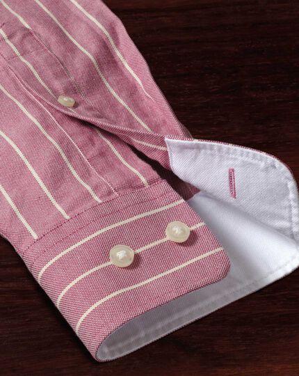 Extra Slim Fit Oxfordhemd in Magenta mit Streifen