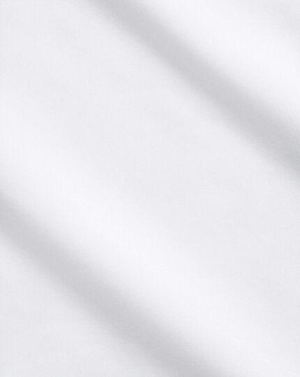 Bügelfreies Classic Fit Hemd aus Popeline in weiß