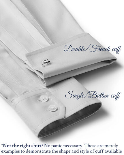 Extra slim fit spread collar non-iron twill lilac shirt