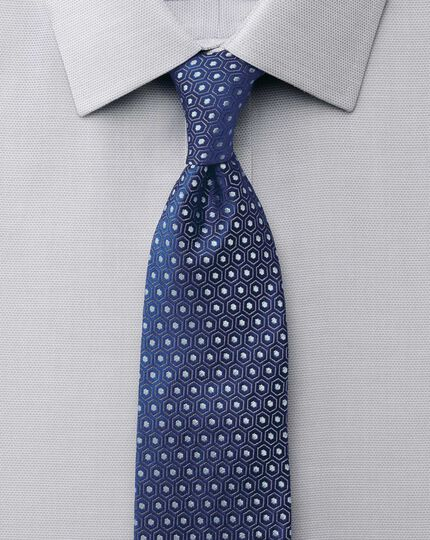 Classic fit non-iron micro spot grey shirt