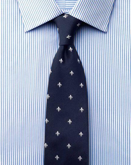Classic fit raised stripe sky blue shirt