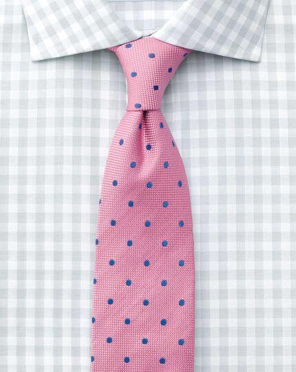 Extra slim fit semi-spread collar textured gingham grey shirt