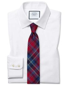 Slim fit Egyptian cotton poplin white shirt