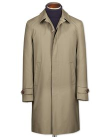 Slim fit stone raincoat