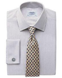 Classic Fit Hemd aus beidseitiger Pima-Baumwolle in Braun