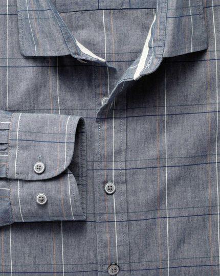Extra slim fit navy check shirt