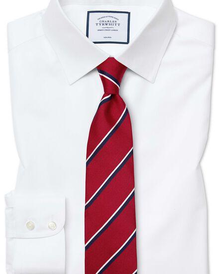 Classic fit non-iron twill white shirt