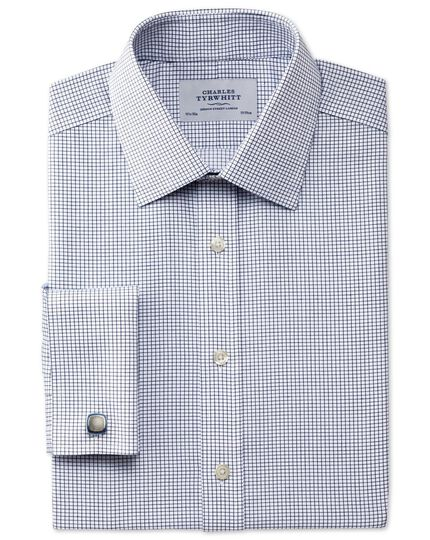 Classic fit non-iron Windsor check navy shirt