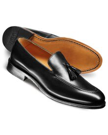 Black Harley apron tassel loafers