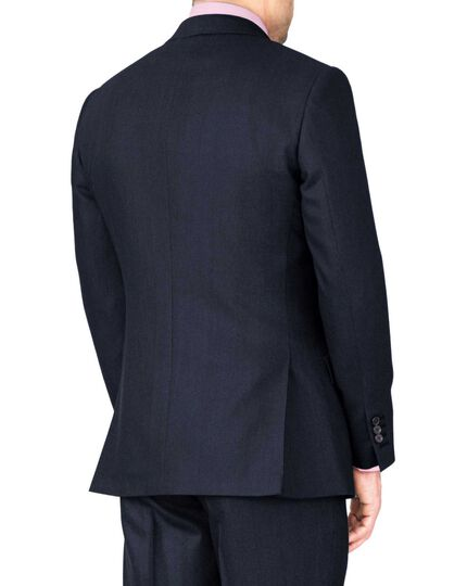 Indigo classic fit saxony business suit jacket