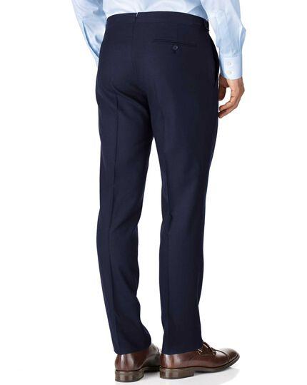 Slim Fit British-Serge Luxusanzug Hose in marineblau