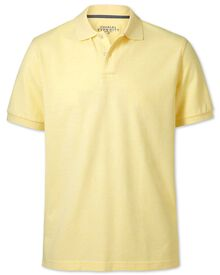 Light yellow pique polo