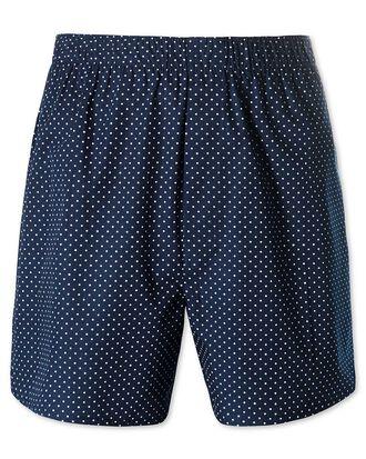 Navy dot woven boxers