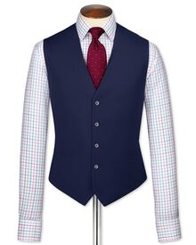 Royal blue adjustable fit twill business suit vest