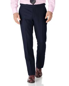 Navy classic fit British serge luxury suit trousers
