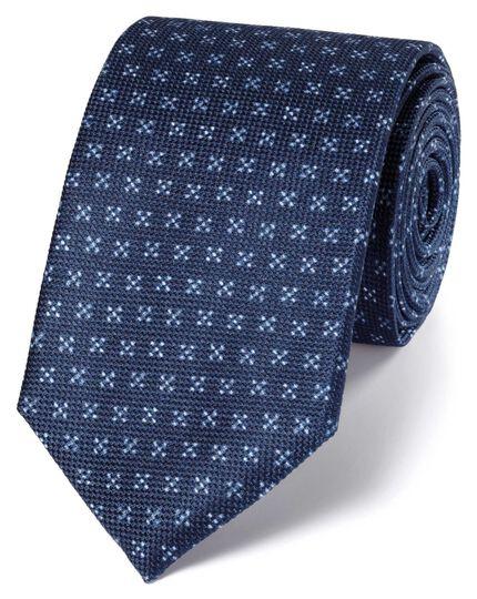 Navy silk indigo classic tie