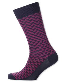 Berry triangle socks