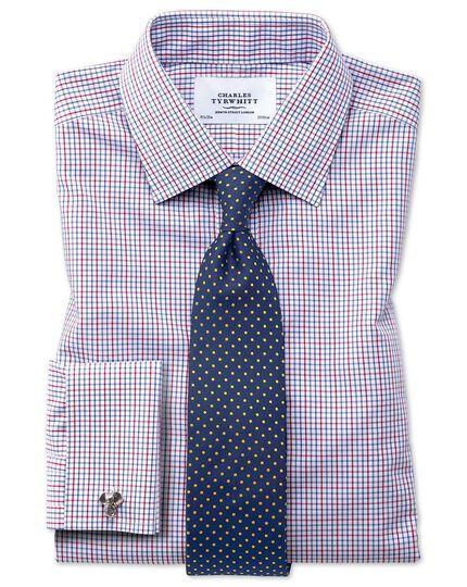 Bügelfreies Classic Fit Hemd in bunt mit Gitterkaros