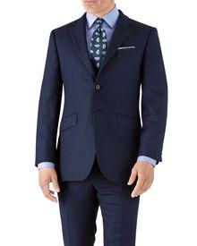 Slim Fit Business Anzug Sakko aus Flanell in Königsblau