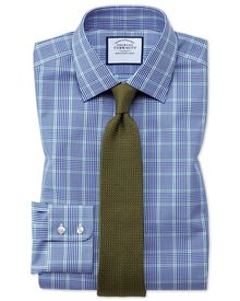Classic fit Prince of Wales blue and green shirt
