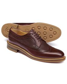 Burgundy Eastcott wing tip brogue Derby shoes