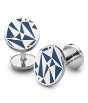 Royal enamel triangles cuff links
