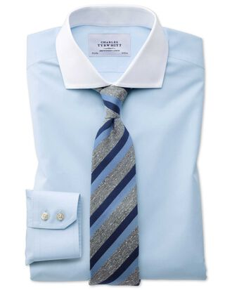 Extra slim fit cutaway non-iron Winchester sky blue shirt