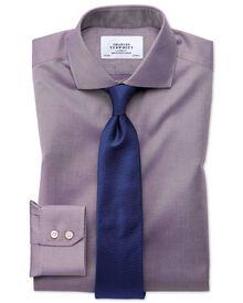 Chemise violette en twill sans repassage slim fit avec col cutaway