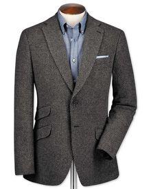 Slim fit grey luxury British tweed jacket