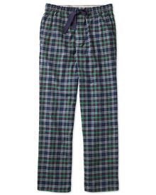 Navy check cotton pajama pants