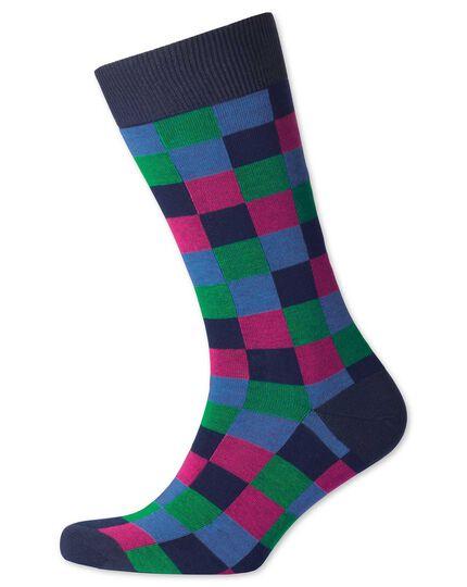 Socken mit Bunten Karos