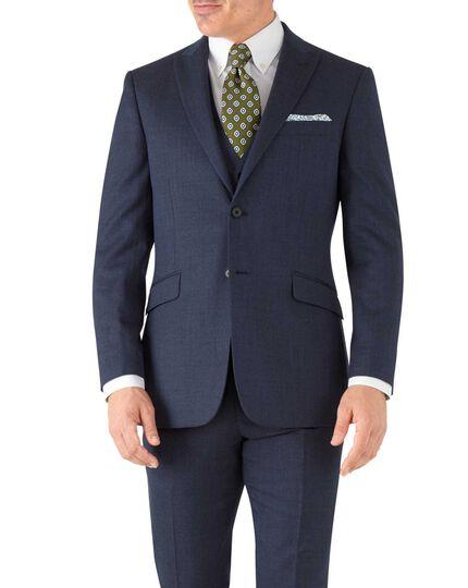 Slim Fit Business Anzug Jackett aus Hairline in airforceblau