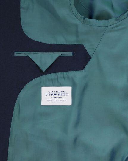 Navy sharkskin slim fit business suit jacket