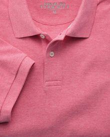 Piqué-Polohemd in dunkelrosa