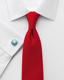 Extra slim fit Egyptian cotton puppytooth white shirt