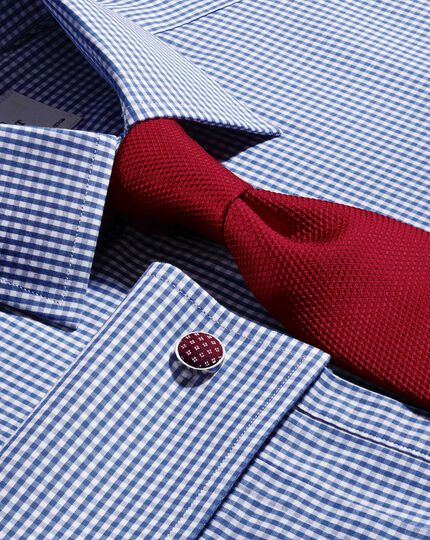Dark red silk plain classic tie