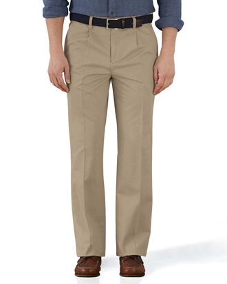 Stone classic fit single pleat weekend chinos