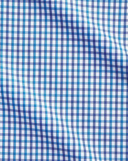 Classic fit two colour check blue shirt