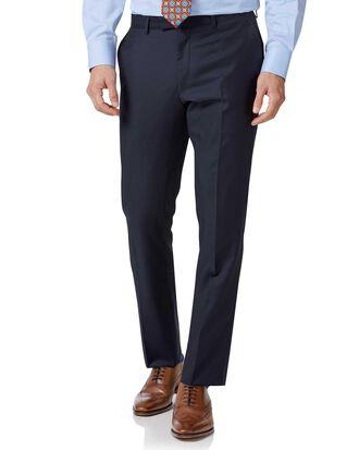 Navy slim fit Italian twill luxury suit trousers