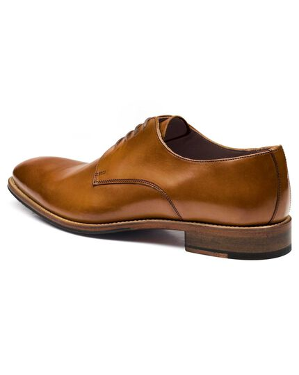 Tan Grosvenor Derby shoes