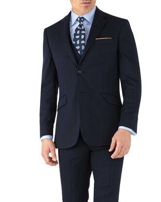 Slim Fit Business Anzug Sakko aus Hairline in Marineblau