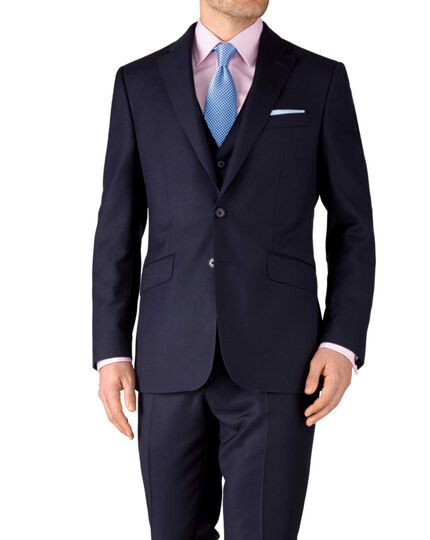 Ink slim fit birdseye travel suit jacket