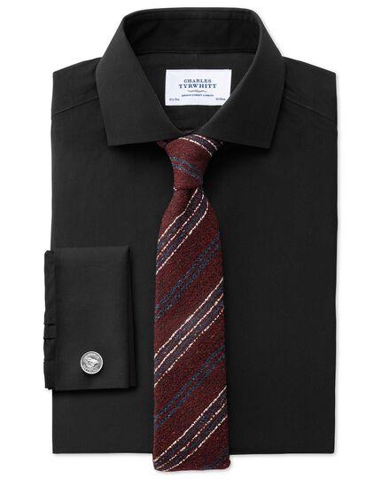 Wine wool mix rustic stripe luxury tie