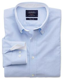 Slim fit sky washed Oxford shirt