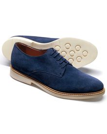 Blue Truscott suede Derby shoes