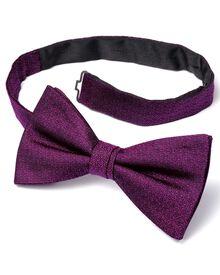 Fuchsia silk ready-tied bow tie