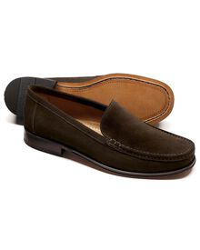 Brown Bridgewater suede loafers