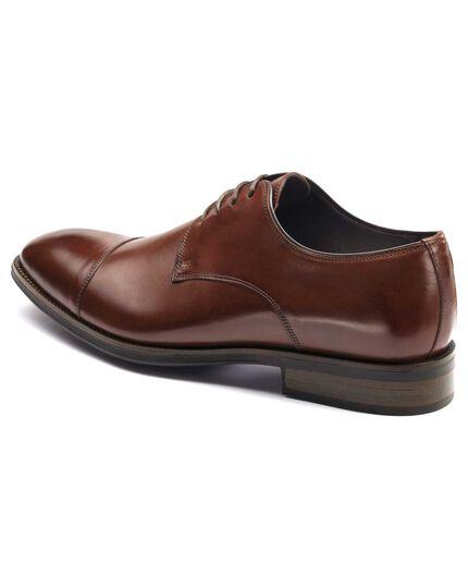 Brown Dutson toe cap Derby shoes