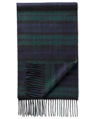 Black watch tartan scarf