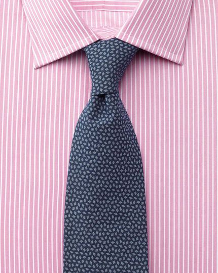 Slim fit Egyptian cotton stripe pink shirt